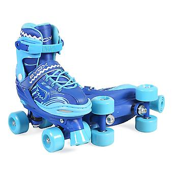 Byox Roller skates Firefly blue light various sizes PVC wheels 608ZB bearings