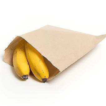 Weller Small Brown Kraft Paper Takeaway Bags
