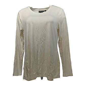 Women with Control Women's Top Bamboo Top w/ Pockets Ivory A310887