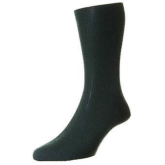 Pantherella Naish afgestemd Merino wollen sokken - Racing Green