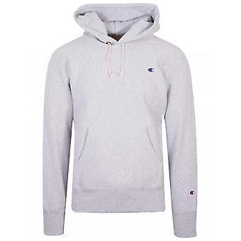 Champion Champion Reverse Weave Light Grey Hooded Sweatshirt