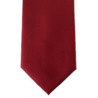 Michelsons Londyn zwykły poliestru tie - czerwony