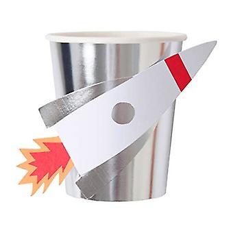 Meri Meri ruimte Rocket Paper Party cups x 8
