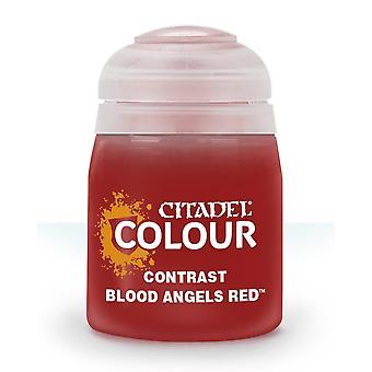 Kontrast: Blutengel Rot (18ml), Zitadelle Farbe,Warhammer 40k/Alter von Sigmar