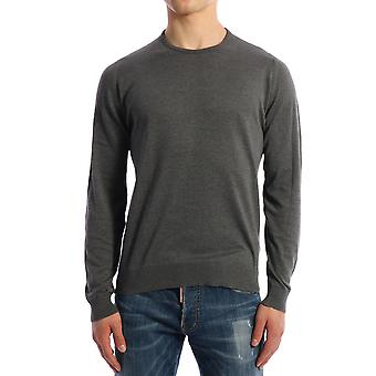 John Smedley Hatfieldcharcoal Men's Grey Cotton Sweater