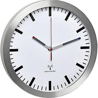 TFA Dostmann 60.3528.02 Radio Wall clock 300 mm x 45 mm Aluminium Noiseless movement