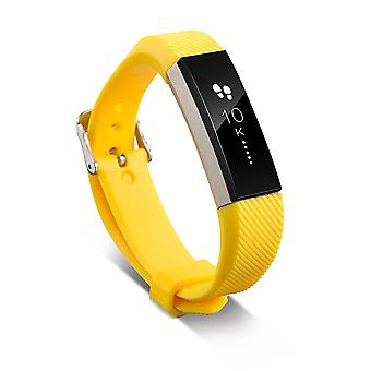 Replacement Wristband Bracelet Strap Wrist Band for Fitbit Alta Classic Buckle [Yellow] BUY 2 GET 1 FREE