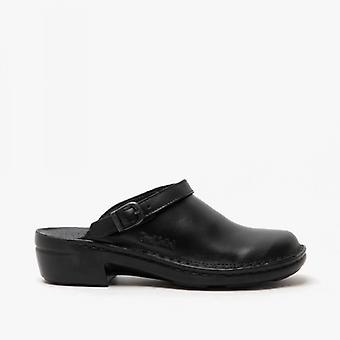 Josef Seibel Betsy Ladies Leather Mule Clogs Black