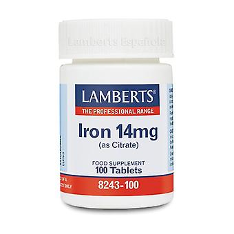 Iron as citrate 100 tablets of 14mg