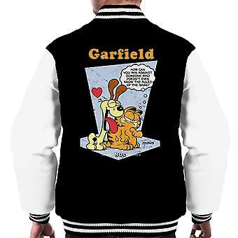 Garfield & Odie slicka klassiska 80s män ' s Varsity jacka
