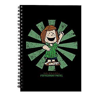 Piparminttu Patty Retro Japanilainen Maapähkinät Spiral Notebook