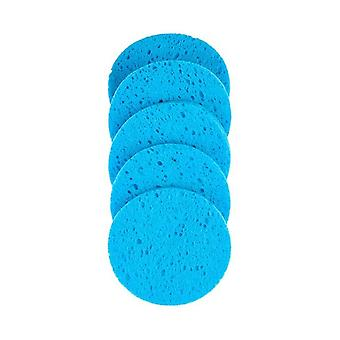 Makeup Remover Puff Natural Wood Pulp Sponge - Cellulose Compress Puff Facial Washing Sponge