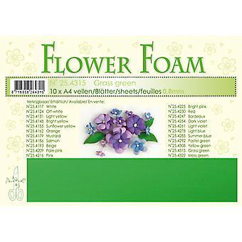 Leane Creatief Flower Foam Sheets A4 Grass Green