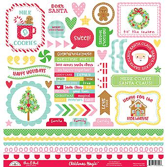 Doodlebug Design Christmas Magic This & That Stickers