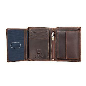 Primehide Mens Brown Leather Wallet RFID Blocage de la carte de crédit Notecase 1958/4