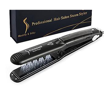 Professional Steam Hair Straightener Ceramic Vapor Hair Flat Iron - Curler Steamer Hair Styling Tool