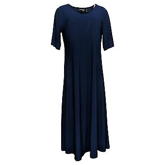 Attitudes by Renee Petite Dress Solid Maxi Dress Navy Blue A375422