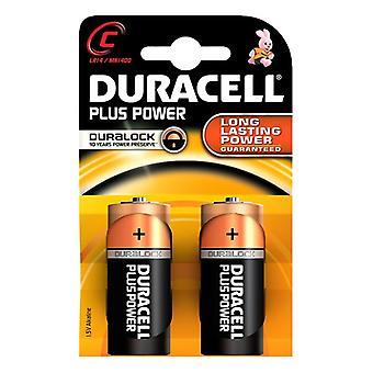 Alkalische batterijen Plus Power DURACELL LR14/MN1400 (2 pc's)