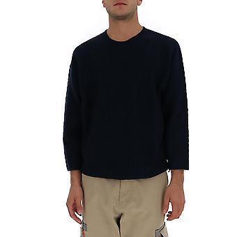 Homme Plissé By Issey Miyake Hp09kn00275 Men's Blue Wool Sweater