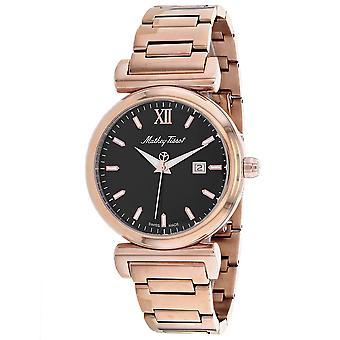 495, Mathey Tissot hombres 'S H410Pn cuarzo rosa reloj de oro