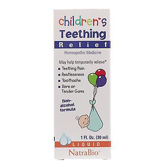 NatraBio, Children's Teething Relief, Non-Alcohol Formula, Liquid, 1 fl oz (30 m