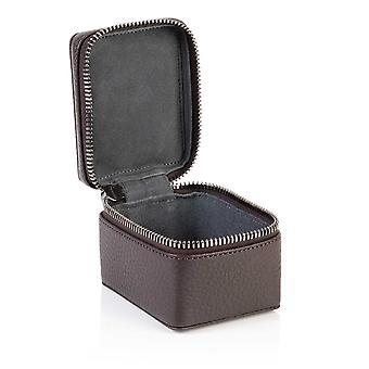 Cocoa Brown Richmond Leather Small Trinket Box