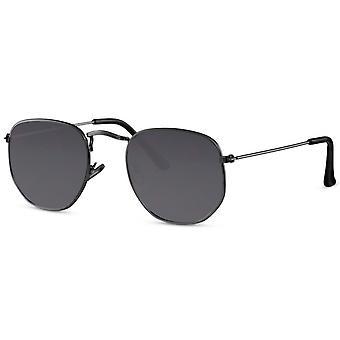 نظارات شمسية للجنسين الأسود / الدخان (CWI2416)