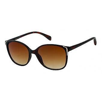 Sunglasses Women's Brown/Panther with silver accent