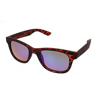 Sunglasses Unisex Brown with Blue / Green Lens (16-080B)