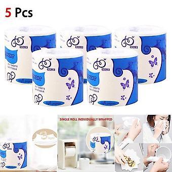 Soft Portable White Toilet Paper Roll in Bulk voor badkamer keuken huishouden