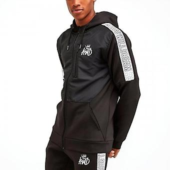 Kings Will Dream Lunwell Black Reflective Zip Up Poly Hoody