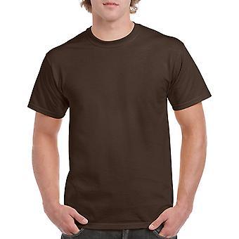T-shirt en coton lourd plat Gildan G5000 en chocolat noir
