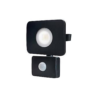 LED Floodlight 20W 4000K 1800lm PIR Sensor  Matt Black  IP64