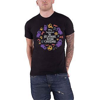 Disney T Shirt The Nightmare Före jul Character Flight nya officiella Mens