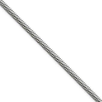 In acciaio inox lucido collana a catena serpente 2mm chiusura aragosta fantasia - Lunghezza: 18-24