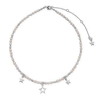 ChloBo Konfetti Falls Sølv Life Long Magic Pearl halskæde SNLLMAGIC