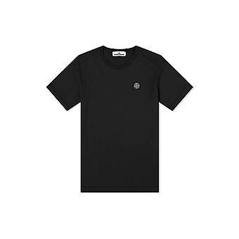 Stone Island puuvilla yksinkertainen musta T-paita