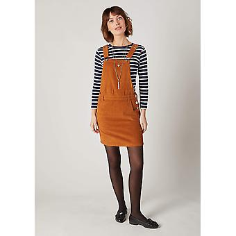 Cerys brown cord pinafore