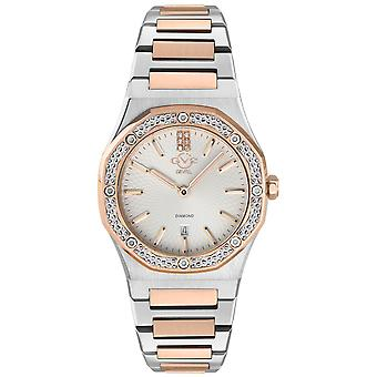 Gv2 Tekijä Gevril Women's 12701 Palmanova Diamond Kaksisävyinen IP Steel Swiss Watch