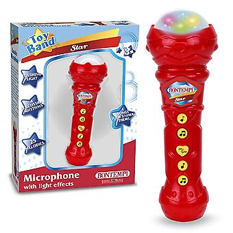 Bontempi Sing-a-long Microphone with Light Effects Red