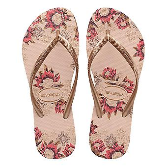 Havaianas Slim Organic Flip Flops - Balettiruusu