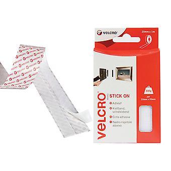 VELCRO Brand VELCRO Brand Stick On Tape 20mm x 1m White VEL60210