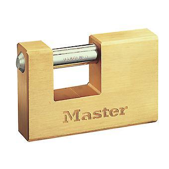 Master Lock rektangulär 63mm Solid Mässing Body Shutter Hänglås MLK606