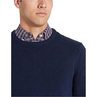 Essentials Men's Midweight Crewneck Sweater, Navy, XX-Large