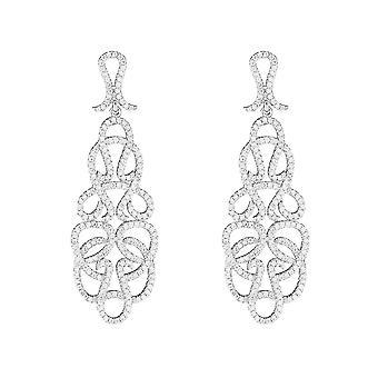 Silver örhängen och zirkonium oxider - Arabesque Feber-apos;