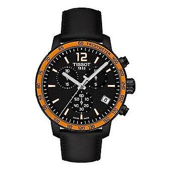 Tissot T095.417.36.057.01 Quickster Chronograph Black Dial Men's Watch
