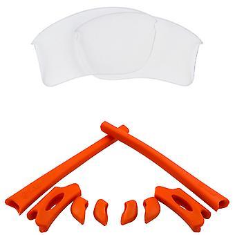 استبدال العدسات & كيت ل Oakley Flak سترة XLJ واضحة والأحمر المضادة للخدش مضادة للوهج UV400 من قبل SeekOptics