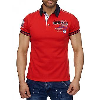 Mens Poloshirt Polo t-skjorte kort ermet skjorte brodert strekke Golf sporty