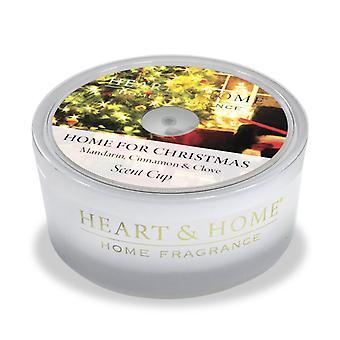 Sydän ja koti lasi tuoksu kuppi kotiin jouluksi