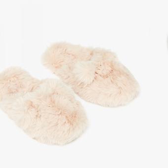 Joules Cosy Jnr Piger Faux Fur Mule Hjemmesko Soft Pink